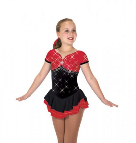 200 Bling-a-Ling Dress - Black/Red