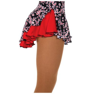 504 Double Back Skirt Daisy Red