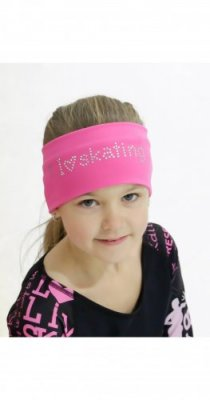 I LOVE SKATING HEADBAND Rosa